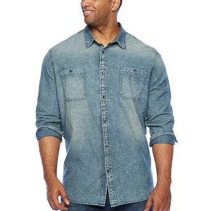 Foundry Big & Tall Long Sleeve Button Down Shirt